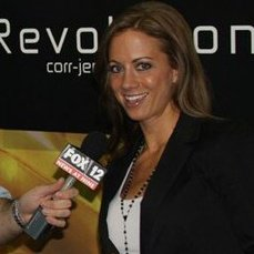 Crystal Matthes-Jennings being interviewed