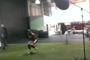 Behind the Scenes James Patrick photographing Patrick Peterson