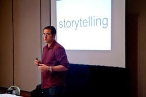 James Patrick presenting