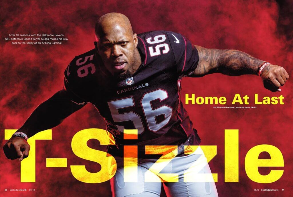 Terrell Suggs photographed by James Patrick